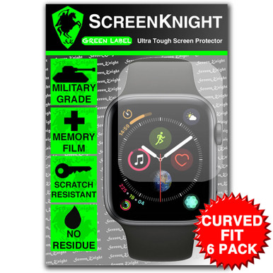 Apple Watch Series 4 - 44mm Screen Protector - Military Shield - 6 Pack