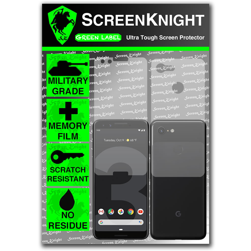 Google Pixel 3 Screen Protector - Military Shield- Fullbody