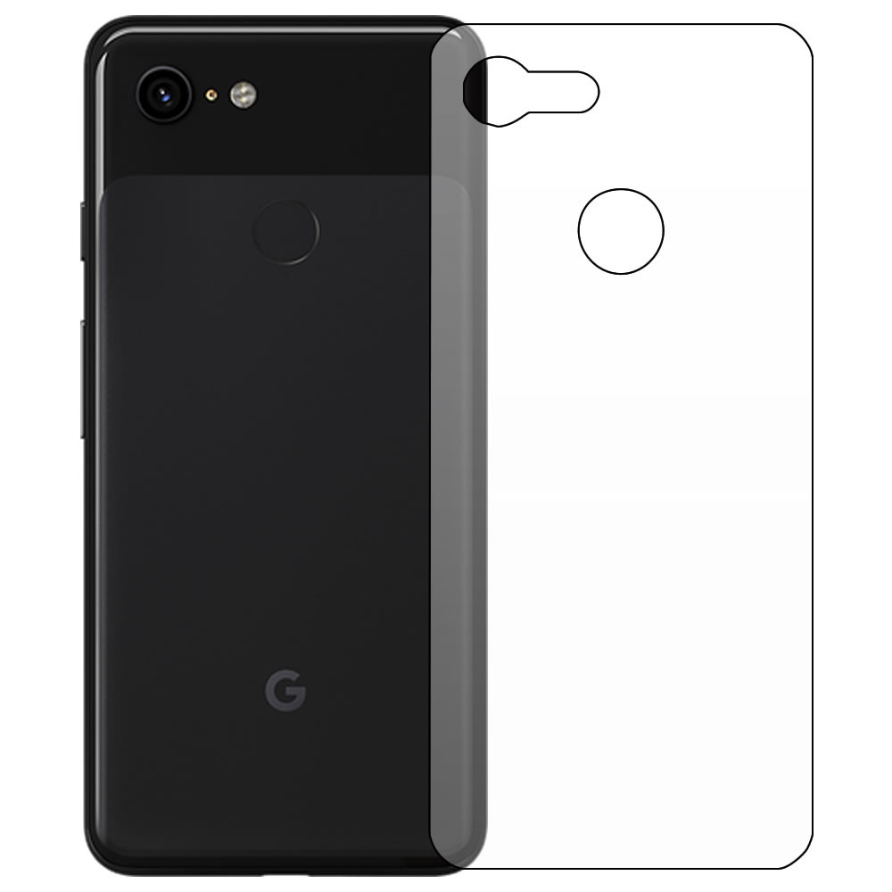 Google Pixel 3 Screen Protector - Military Shield - Back