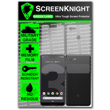 Google Pixel 3 XL Screen Protector - Military Shield - Fullbody