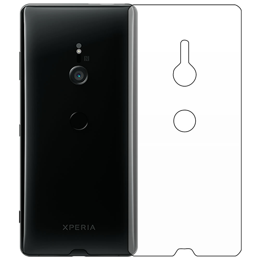 Sony Xperia XZ3 Screen Protector - Military Shield - Back