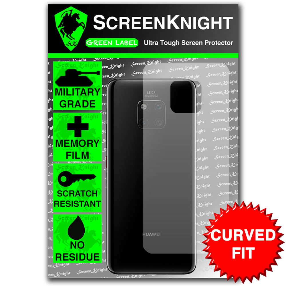 Huawei Mate 20 Pro Screen Protector - Military Shield - back