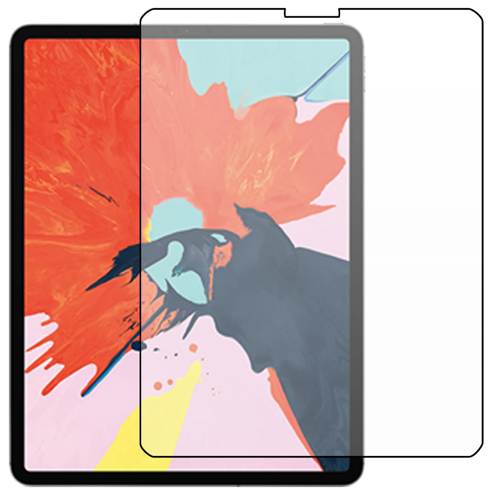 iPad Pro 12.9 (3rd Gen - 2018) Screen Protector - Military Shield - Front