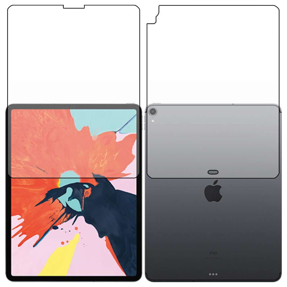 iPad Pro 12.9 (3rd Gen - 2018) Screen Protector - Military Shield - Full body