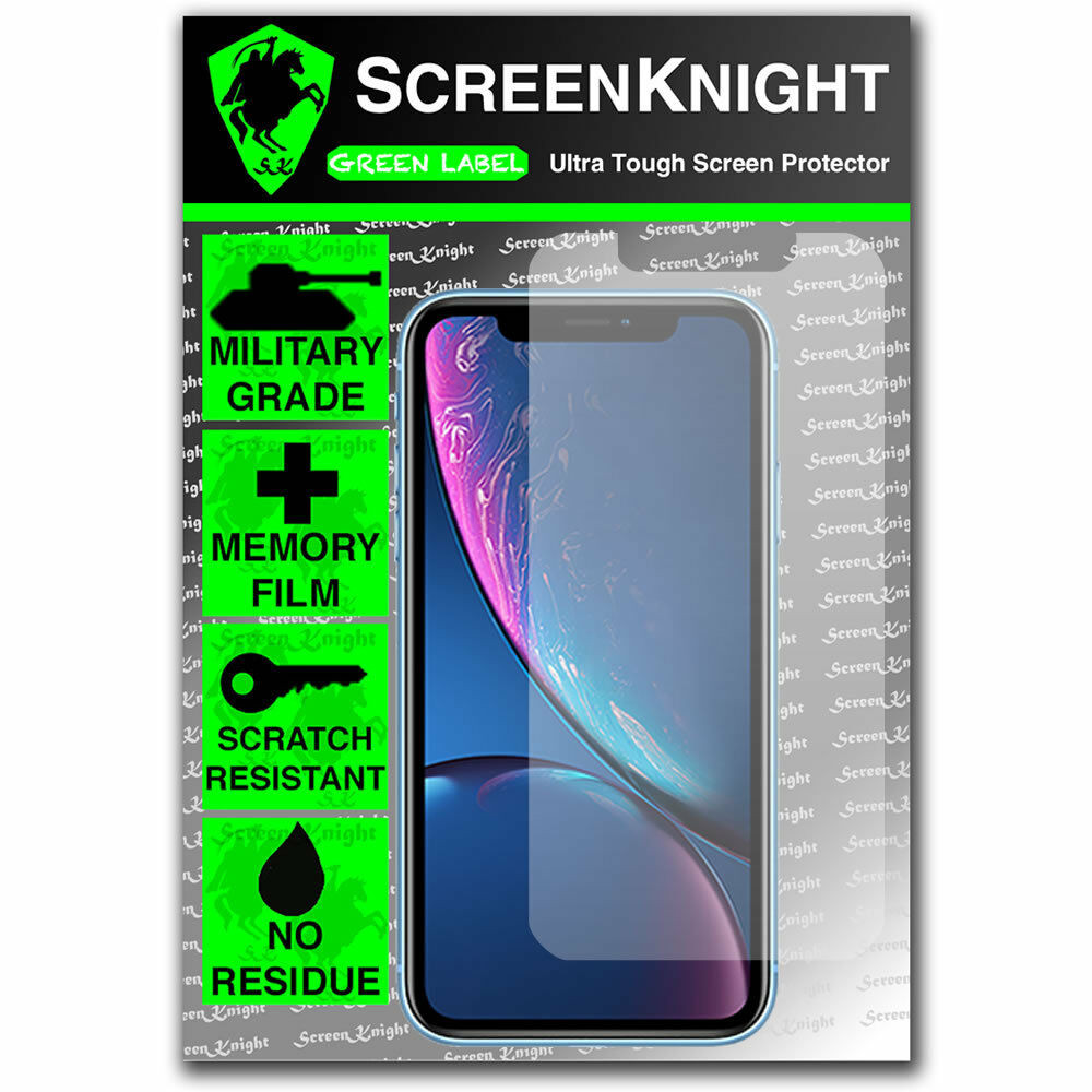 Apple iPhone XR Tempered Glass Screen Protector - Military Shield