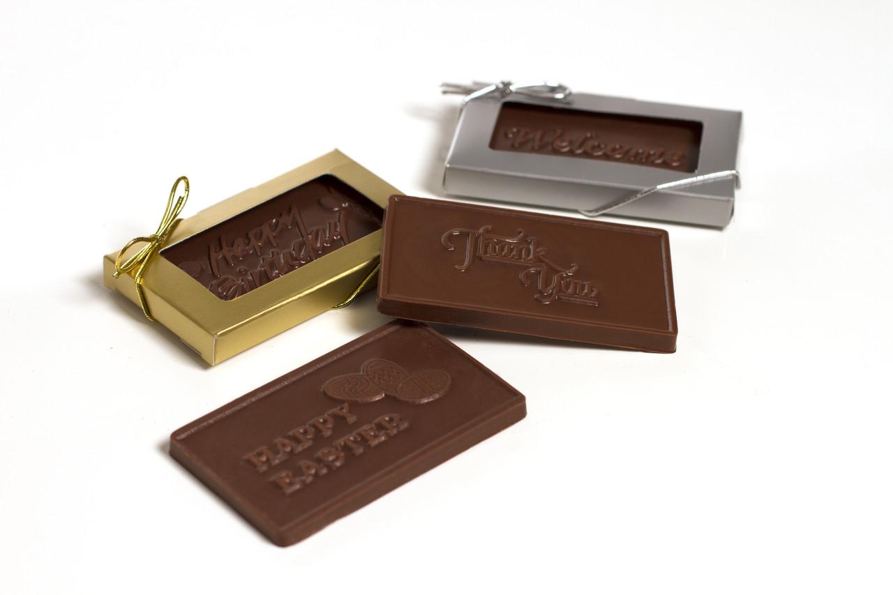 chocolate business cards halletts chocolates