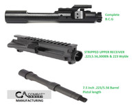 Combat Armory Stripped Upper Receiver  NATO Bolt Carrier Group 7.5 inch 5.56 Barrel Combo