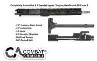 "AR-15 6.5 Grendel Type 2 - 13"" LENGTH 1:8 TWIST W/ 12"" SLIM M-LOK HANDGUARD NO Assembly Required"