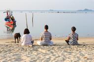 Samahita Retreat Beach Meditation