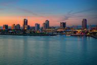 Long Beach At Sunset