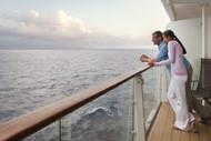 Couple Enjoying Cruise Ship Balcony