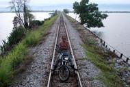Motorcycle Man on Lake Bukit Merah