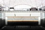 Cathay Pacific's The Bridge, With Its Luminous Reception Walls, Hong Kong
