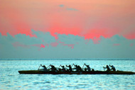 Outrigger Canoe at Sunset