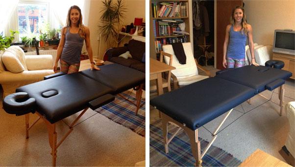 Bon Massage Table Lightweight Navy. U201c