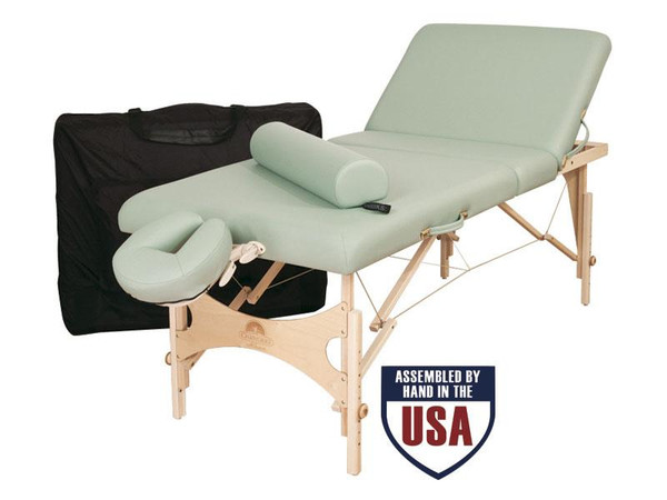 Oakworks Alliance Wooden Massage Table Essential Package- with carry case, bolster,