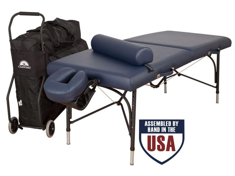 Oakworks Wellspring Traveler Package with Carry Case, Face Rest Platform, Face Rest Crescent, Bolster, Arm Hammock and Table Cart
