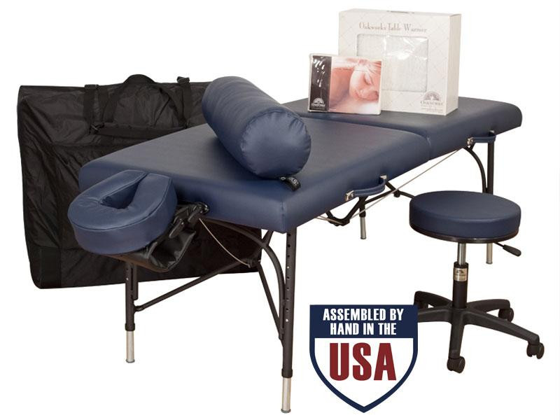 Oakworks Wellspring Ulitmate Package - with Carry case, Face Rest Cradle, Face Rest Cushion, Arm Hammock, Bolster, Flannel Sheets, Heated Fleece,