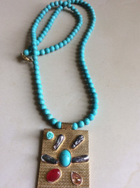 Pakistani Designer Jewelry Turquoise Locket with prices