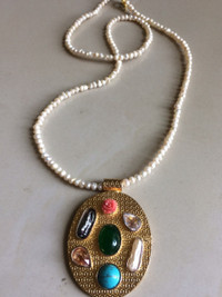 Pakistani Designer Jewelry Pearl Locket