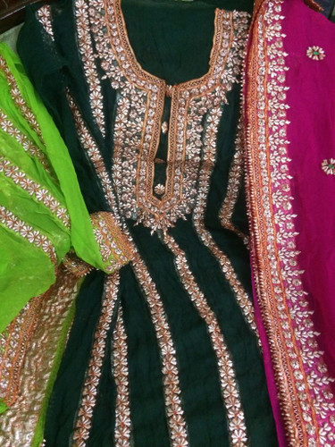 online mukesh embroidery suits for Ladies