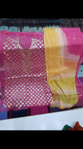 Gota Embroidery Suits Lahore