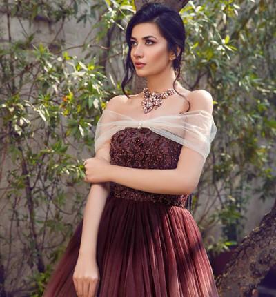 Threads & Motifs Brown Long dress