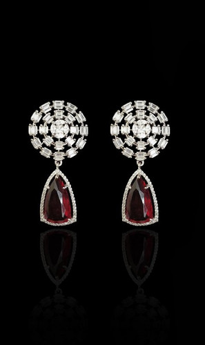 Pakistani Designer Jewelry Earring 051