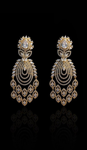 Pakistani Designer Jewelry Earring 012