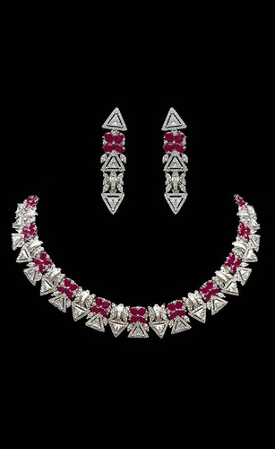 Pakistani Designer Jewelry Set 020