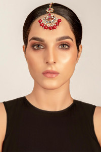 new  Pakistani Designer Jewelry Tikka Red