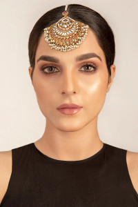 Pakistani Designer Jewelry Tikka White