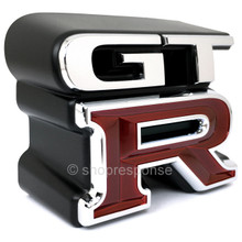 "JDM Nissan 99-02 Skyline GT-R R34 Front ""GT-R"" Emblem (62896-AA400)"