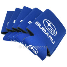 Subaru Logo Blue Foam Can Coolers (5 Pack)