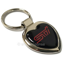 Subaru Heart Key Chain