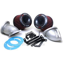 A'PEXi 507-N001 Power Intake Dual Funnel Air Cleaner: 89-94 Nissan Skyline GT-R R32 RB26DETT