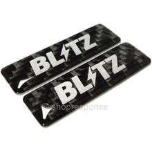 BLITZ 18990 Carbon Mini Emblem x2