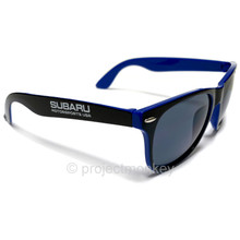 Subaru Motorsports USA Sun Ray Sunglasses - Black / Royal Blue