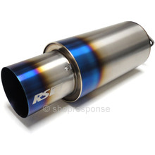 "GReddy 11008525 RS-Ti Titanium Universal Muffler Exhaust: NA (63.5mm / 2.5"" Piping)"