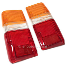 OEM Toyota 81-90 Land Cruiser BJ60 / FJ60 / FJ62 / HJ62 Tail Light Lenses (81551-90A00 / 81561-90A00)
