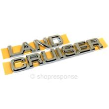 "OEM / JDM Toyota 02-09 Land Cruiser Prado / Lexus GX470 FJ120 LC120 Rear ""Land Cruiser"" Emblem (75444-60030)"