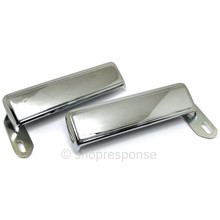 OEM Toyota 75-84 Land Cruiser BJ40 / FJ40 Chrome Outside Door Handle Set (69210-90300 / 69220-90300)