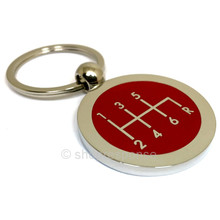 Subaru STi 6 Speed Shift Pattern Key Chain