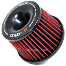 "APEXi 500-A028 Power Intake Dual Funnel Air Cleaner: Universal (65mm / 2.56"" Flange)"