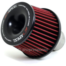 "APEXi 500-A026 Power Intake Dual Funnel Air Cleaner: Universal (75mm / 2.95"" Flange)"