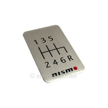 Nismo Console Shift Pattern Badge - 6 Speed (96935-RN001)