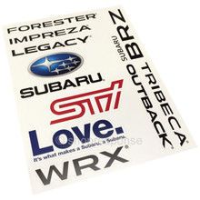 Subaru Sticker Sheet