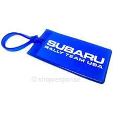 Subaru Rally Team USA Luggage Tag - Blue / White