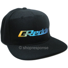 GReddy OG Logo Snap-Back Cap (Black with Gradient Logo)