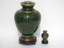 "Cloisonne Urn - 30002  Large - 10"" Height x 7"" Wide   Small - 3"" Height x 2"" Wide"